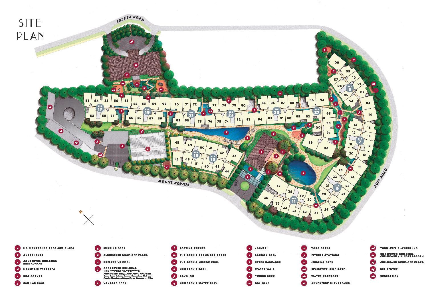 Sophia Hills Site Map