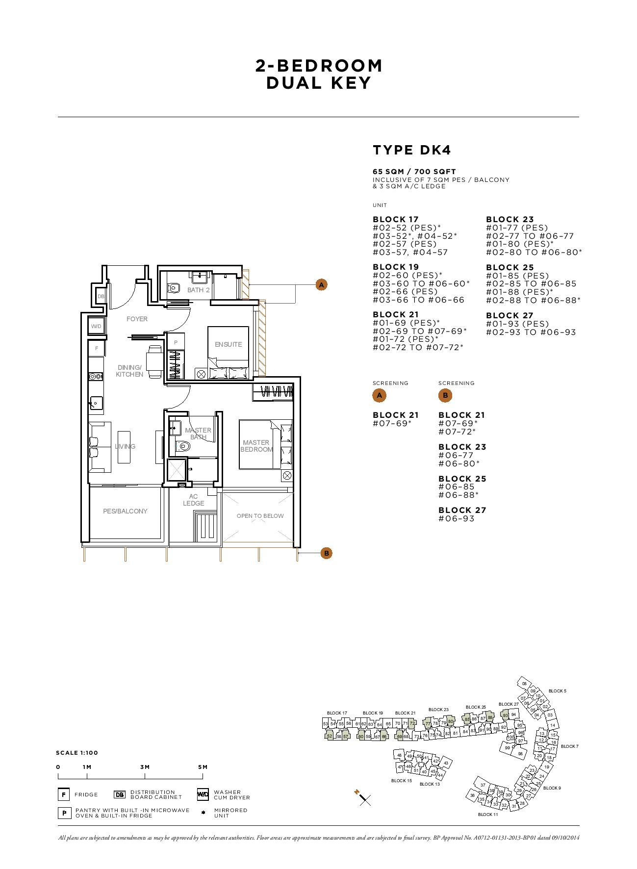 Sophia Hills 2 Bedroom Dual Key Type DK4 Floor Plans