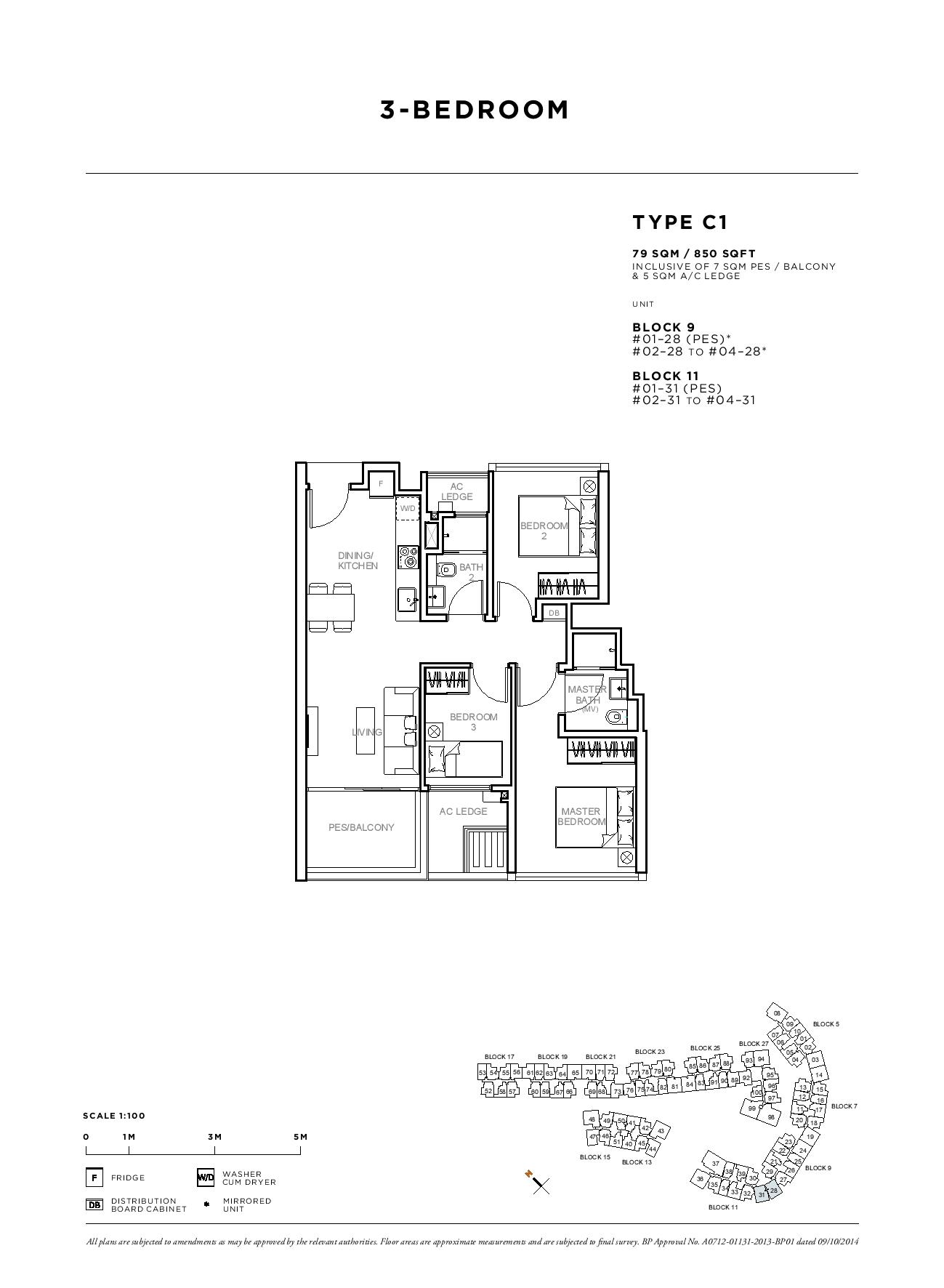 Sophia Hills 3 Bedroom Type C1 Floor Plans