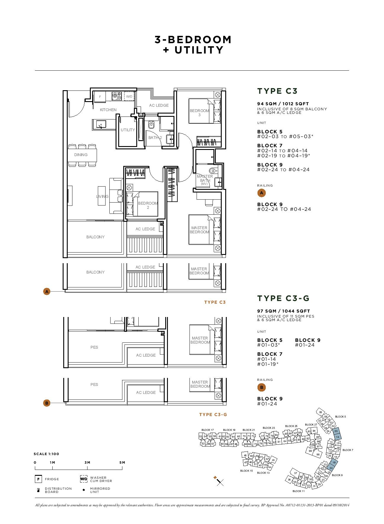Sophia Hills 3 Bedroom + Utility Type C3 Floor Plans