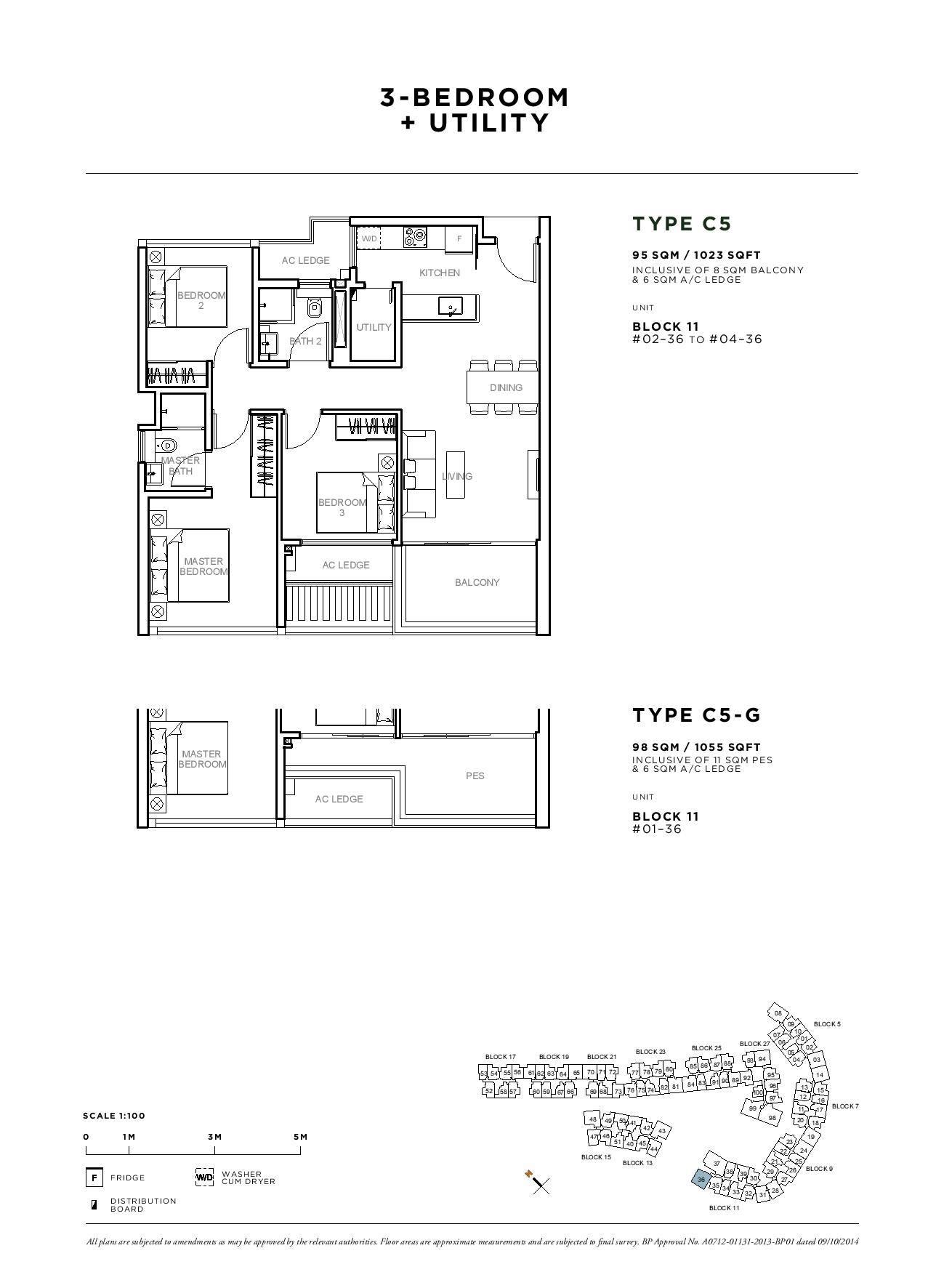 Sophia Hills 3 Bedroom + Utility Type C5 Floor Plans