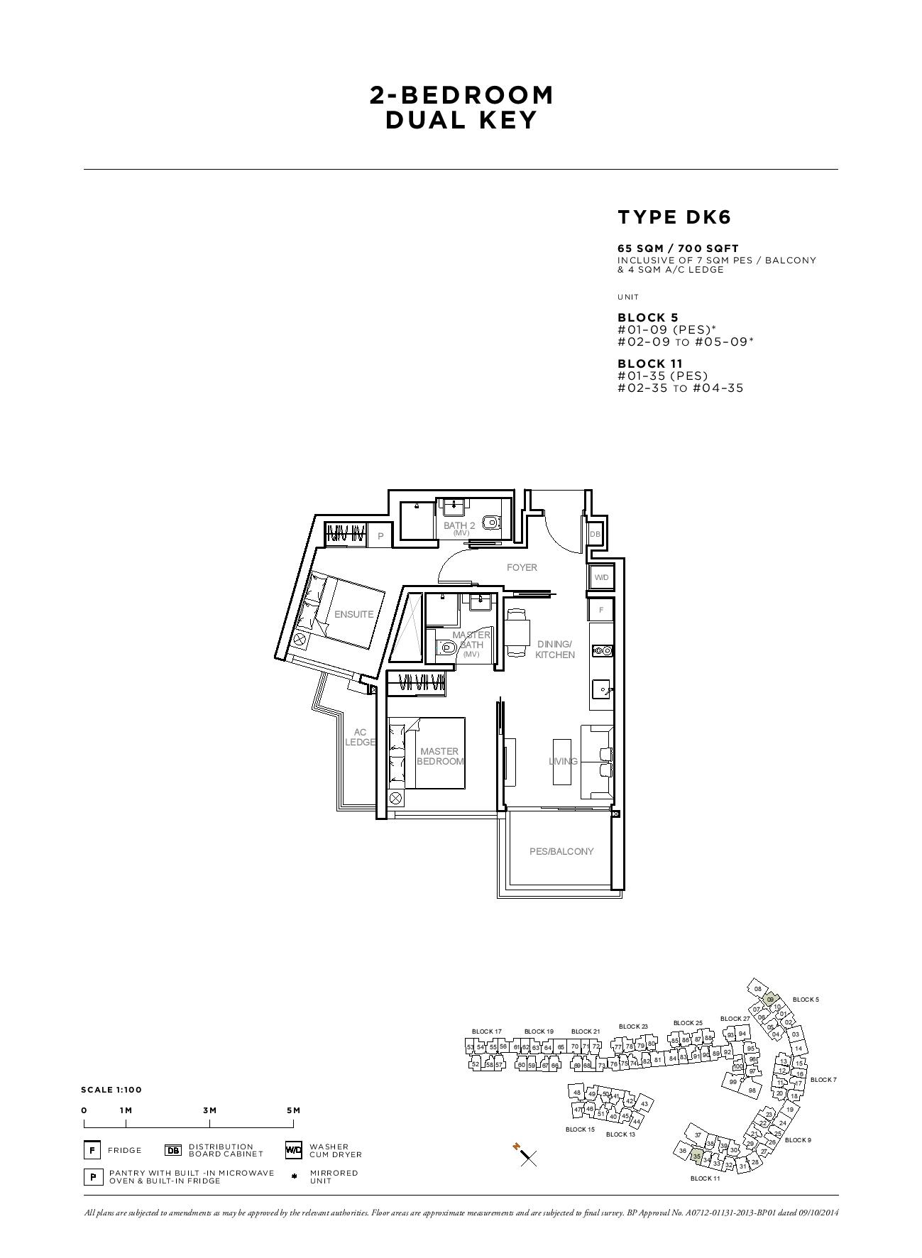 Sophia Hills 2 Bedroom Dual Key Type DK6 Floor Plans