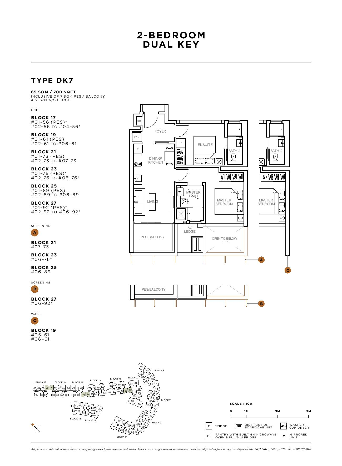 Sophia Hills 2 Bedroom Dual Key Type DK7 Floor Plans