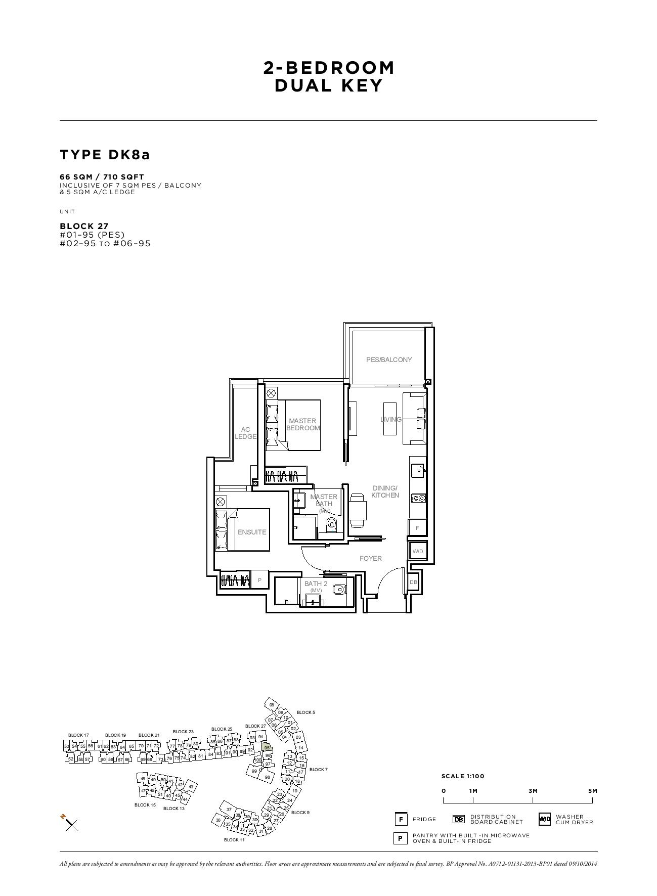 Sophia Hills 2 Bedroom Dual Key Type DK8a Floor Plans