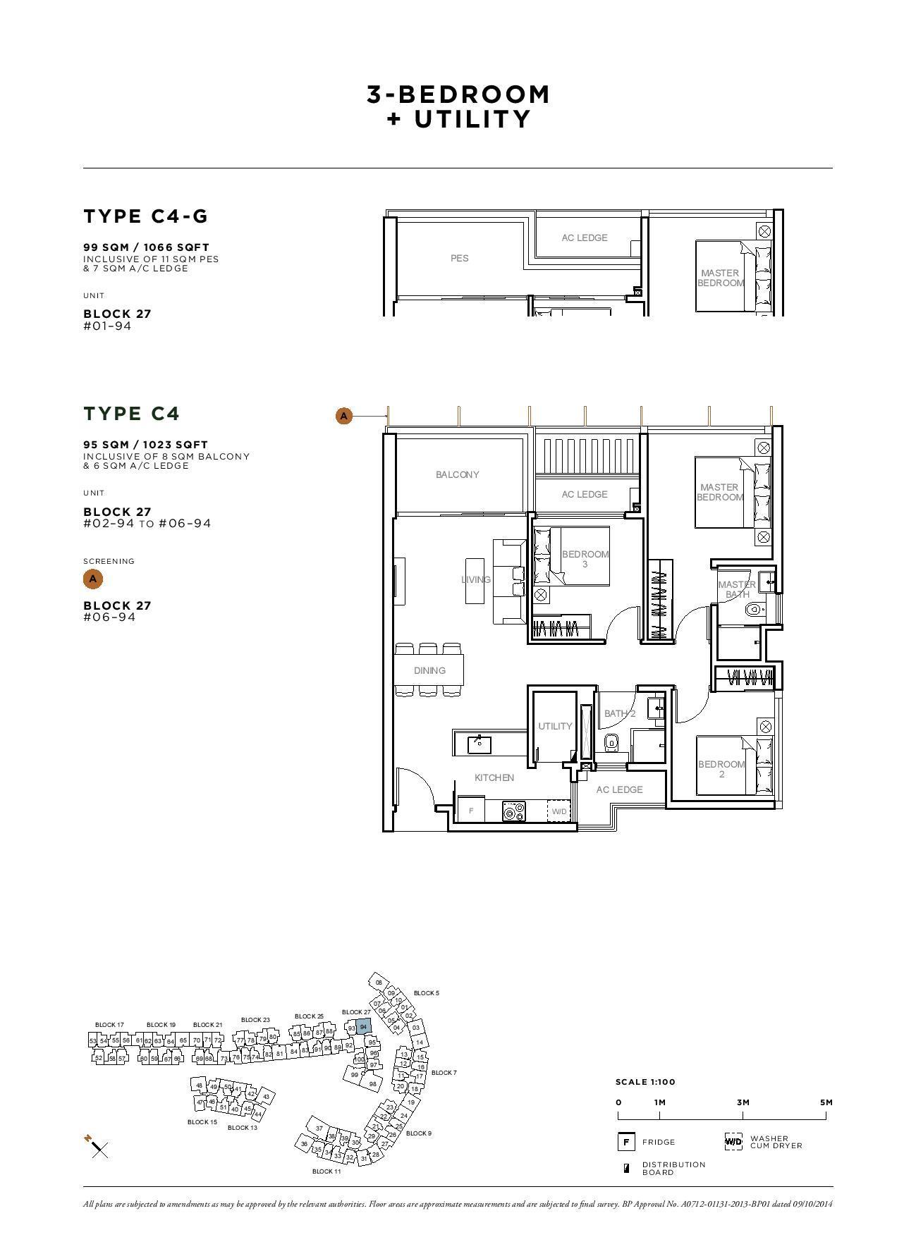 Sophia Hills 3 Bedroom + Utility Type C4-G Floor Plans