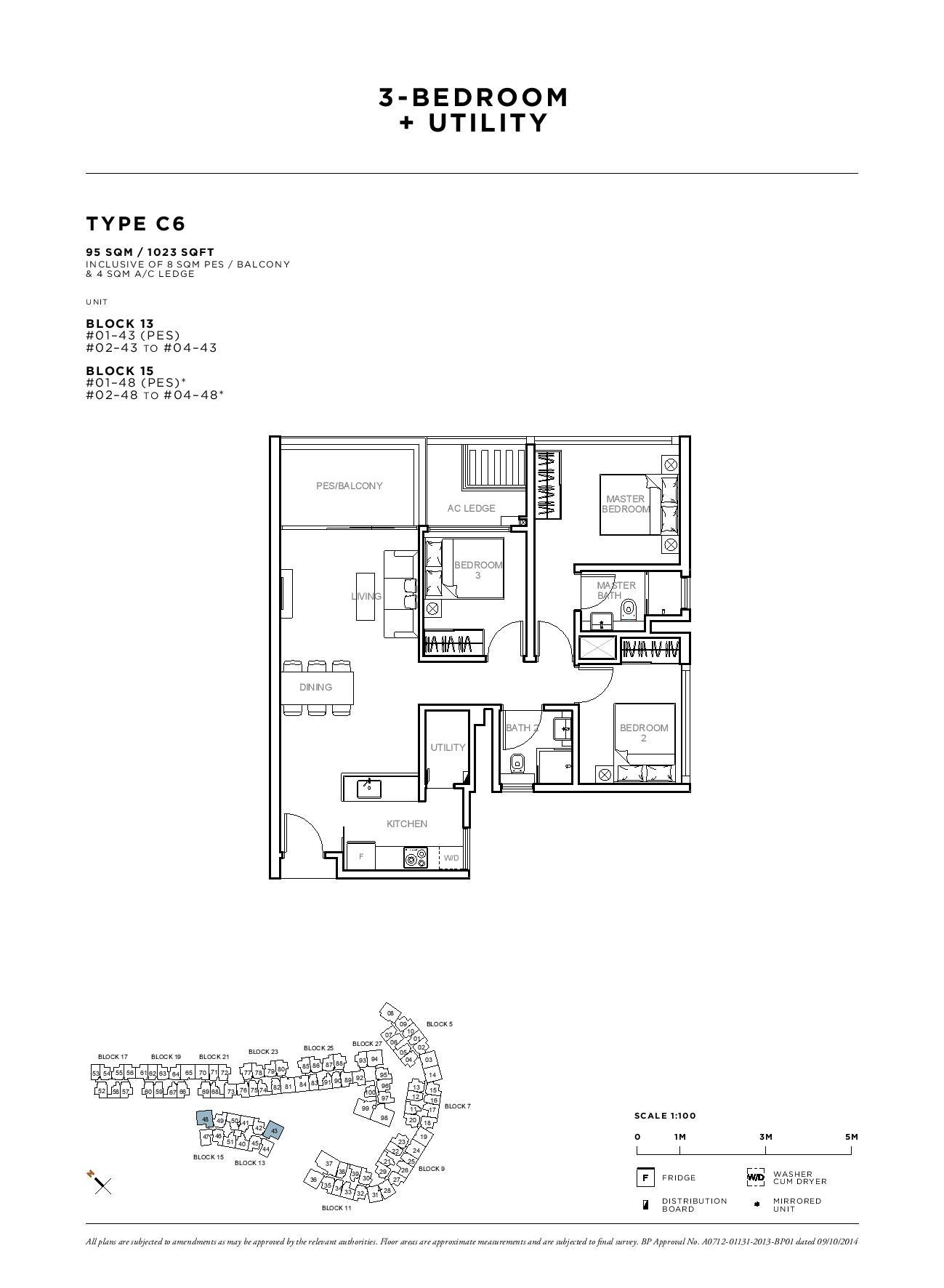 Sophia Hills 3 Bedroom + Utility Type C6 Floor Plans