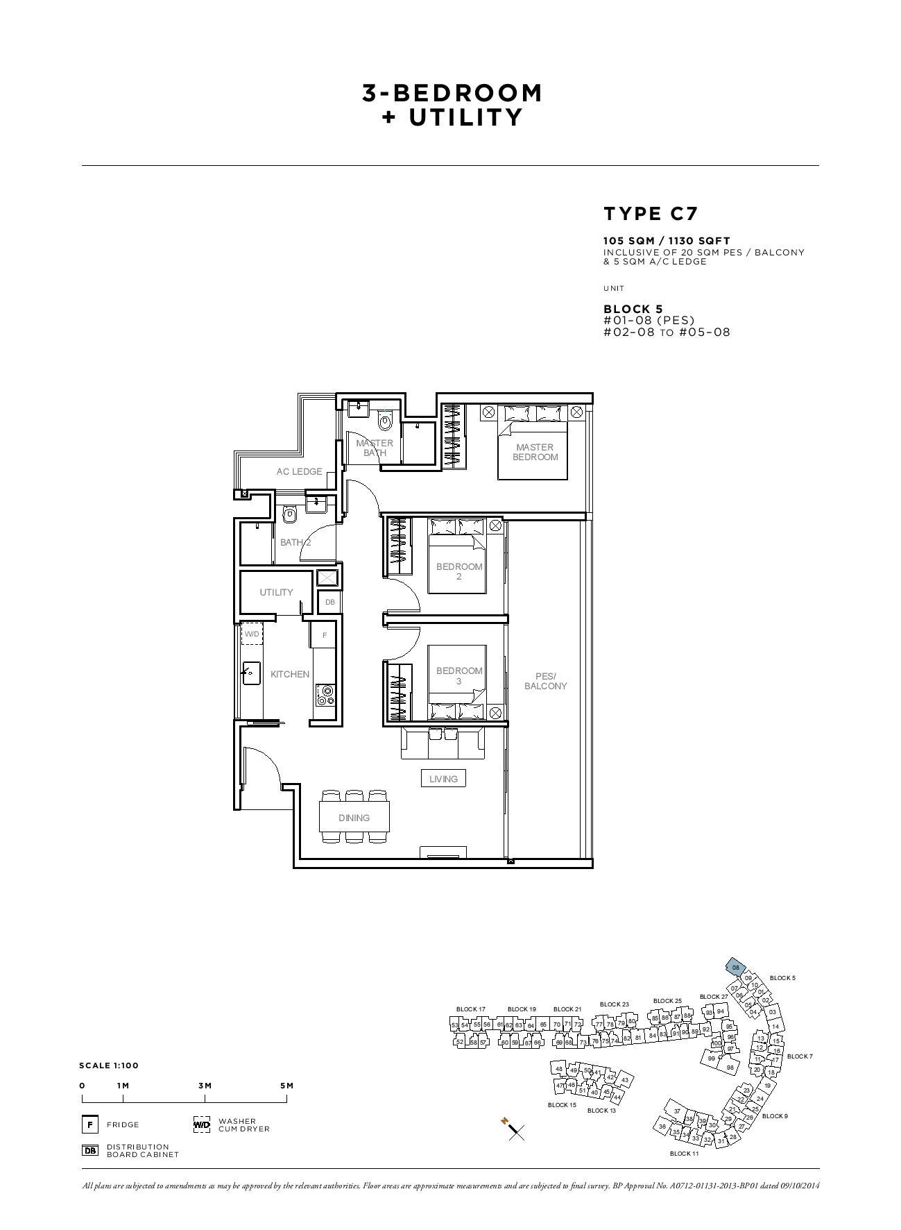 Sophia Hills 3 Bedroom + Utility Type C7 Floor Plans
