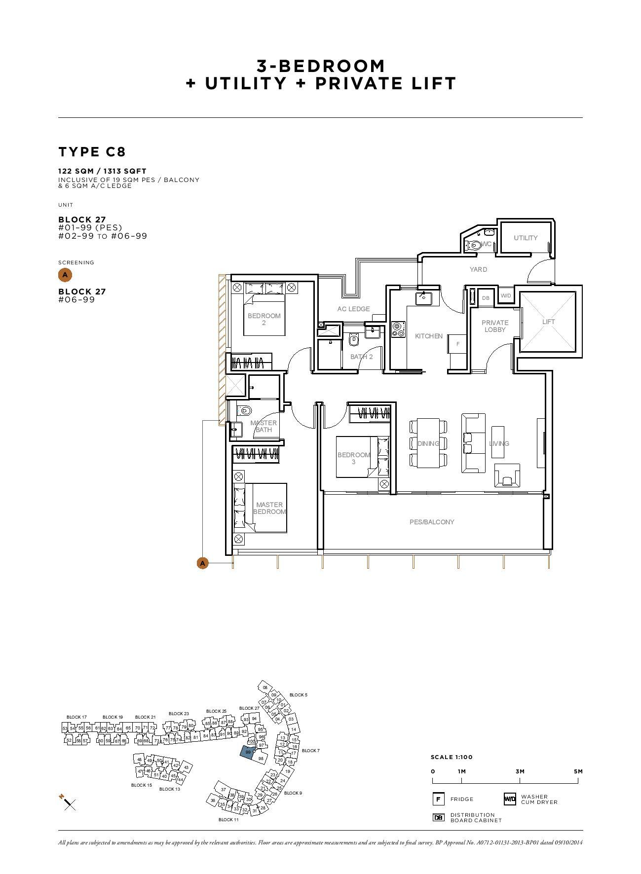 Sophia Hills 3 Bedroom + Utility Type C8 Floor Plans